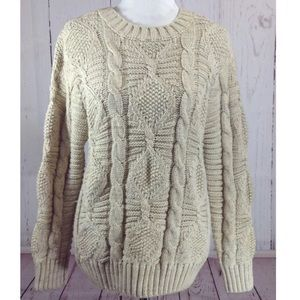 Roommates Perfect Chunky Knit Boyfriend Sweater